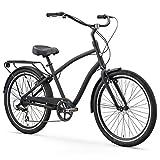 sixthreezero EVRYjourney Men's 7-Speed Hybrid Cruiser Bicycle, 26' Wheels with 19' Frame, Matte...