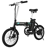 ANCHEER Folding Electric Commuter Bike, 16'' City Ebike with 8Ah Removable Lithium-Ion Battery...
