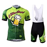 Thriller Rider Sports Mens I Like Beer Outdoor Sports Mountain Bike Short Sleeve Cycling Jersey and...