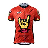 Thriller Rider Sports Mens Rock Music Outdoor Sports Mountain Bike Short Sleeve Cycling Jersey...
