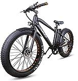 NAKTO 26'' Electric Bicycle 6-Speed Ebike Mountain Electric Bike