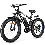 Speedrid Electric Bike 48V 500W Fat Tire Electric Bike Snow Bike 26' 4.0, 48V 10Ah Removable Battery...