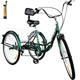 Bkisy Adult Folding Tricycle 7-Speed