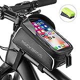 ROCK BROS Bike Phone Bag Bike Front Frame Bag Waterproof Bicycle Phone Mount Bag Phone Case Holder...