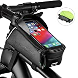 ROCK BROS Bike Phone Bag Bicycle Front Frame Bag Waterproof Top Tube Cycling Bags Phone Case with...