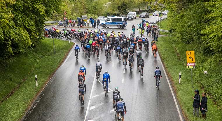 cycling at raining