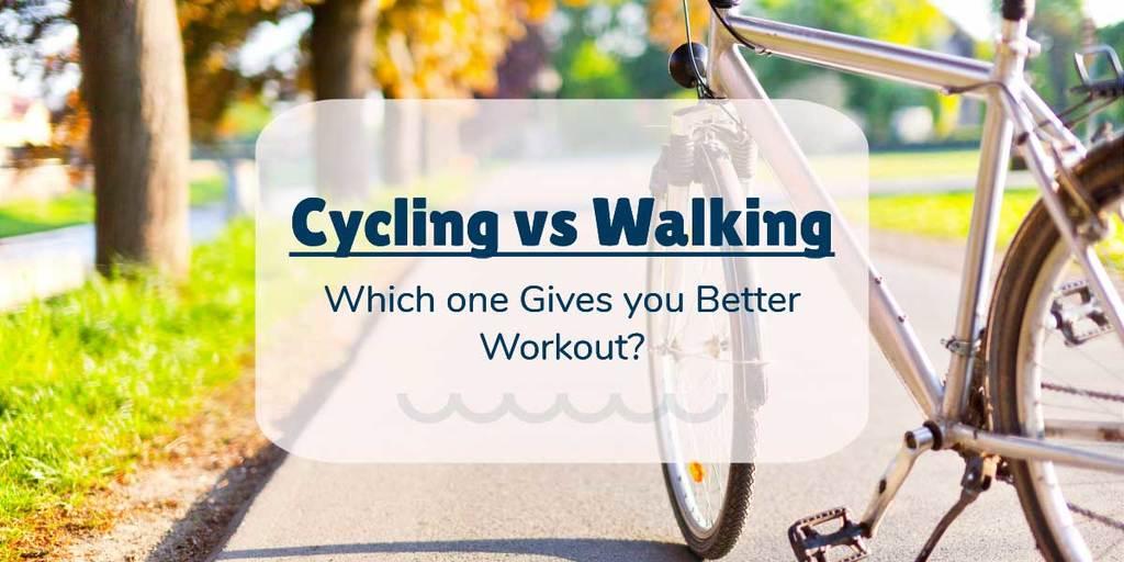 cycling vs walking calories burned