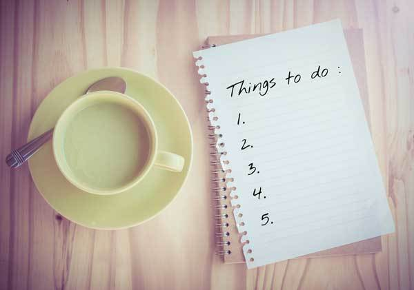 cycling to do list