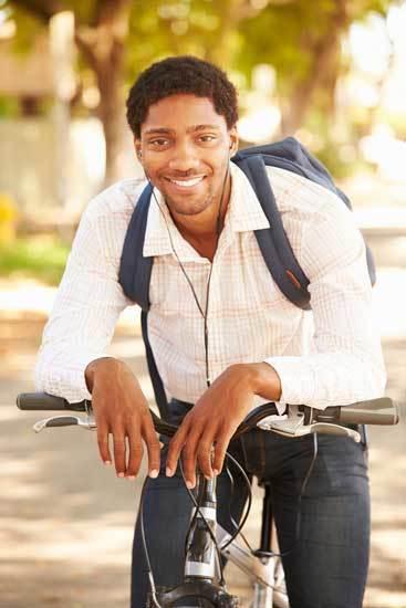 listening to music in bike commuting