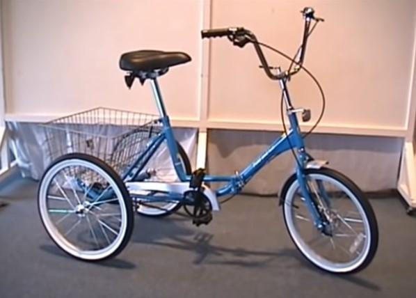 True Bicycles Fold and Go Three-speed Trike