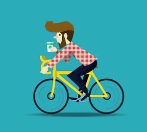going bike to work