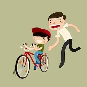 ride a bike in childhood